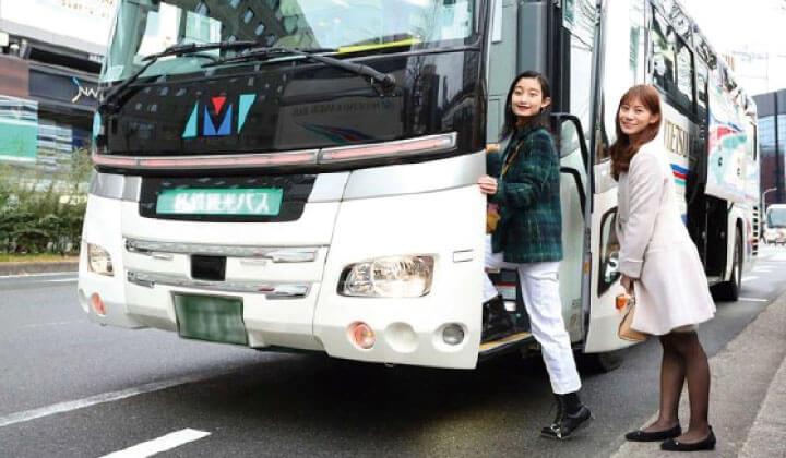 您可以轻松地从京都站或新大阪站乘坐旅游巴士!